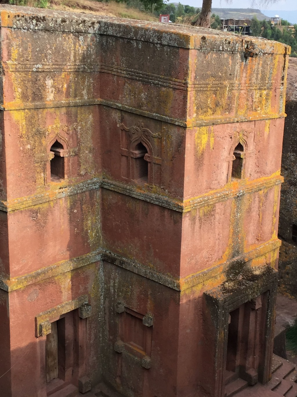This Oct. 16, 2017 photo shows one of the 12th century churches carved from stone in Lalibela, Ethiopia. The architectural marvels are one of the coun...