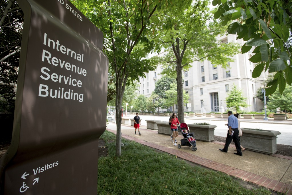 FILE - This Aug. 19, 2015, file photo, shows the Internal Revenue Service Building in Washington. The tax overhaul bill has yet to be passed at this p...