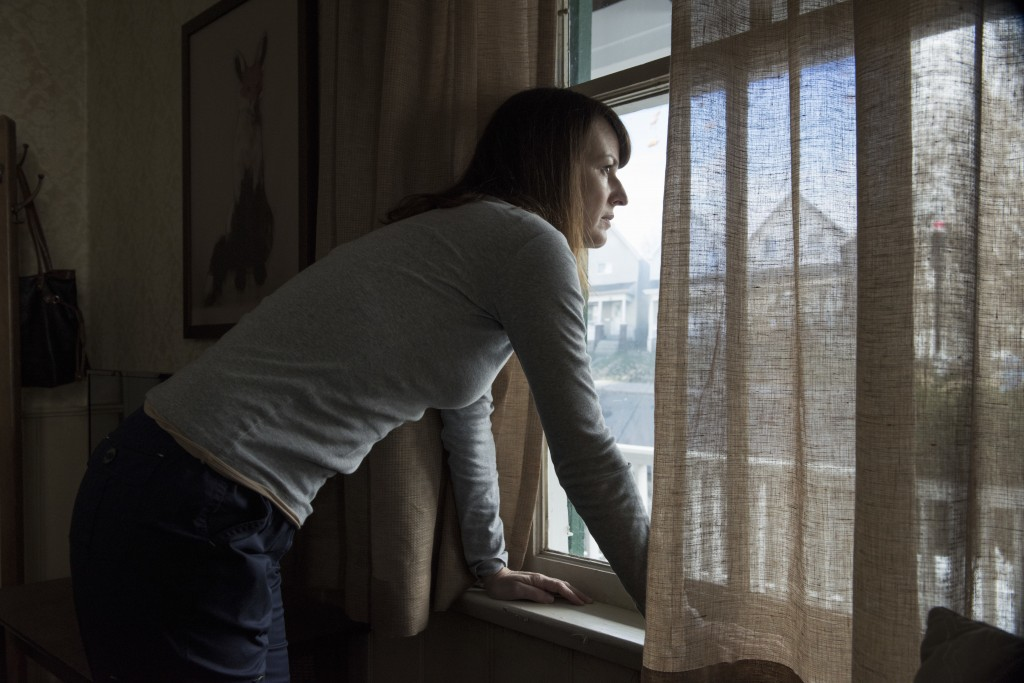 """This image released by Netflix shows Rosemarie Dewitt in an episode of """"Black Mirror,"""" directed by Jodie Foster. Season four of """"Black Mirror,"""" will b..."""