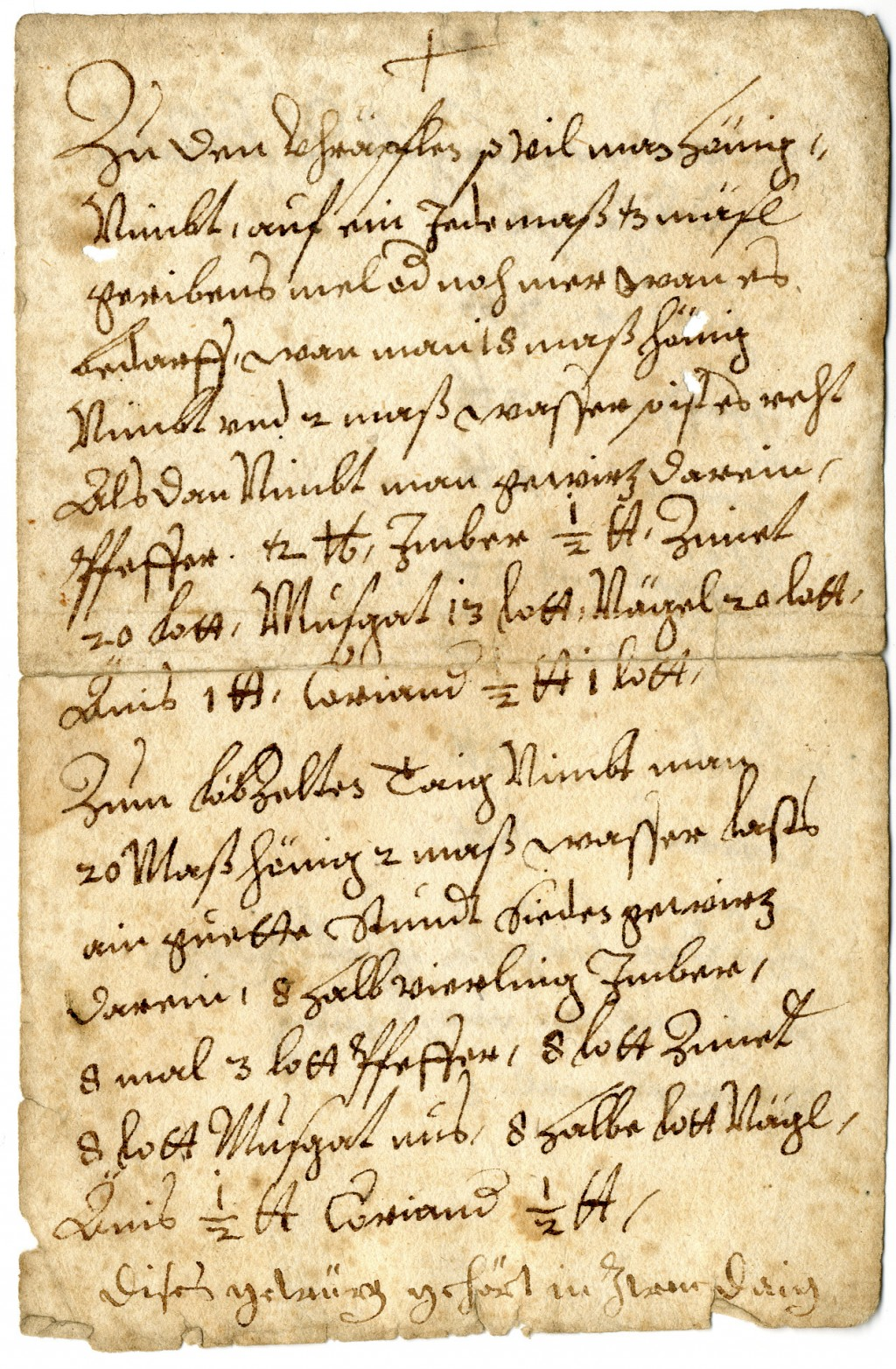 The undated image provided by the archdiocese Munich shows a recipe from the 17th century for Lebkuchen _ Germany's famous Christmas gingerbread. The ...