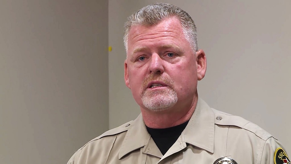 Washington County sheriff's Sgt. Aaron Thompson speaks at a press conference in Hurricane, Utah, Tuesday, Dec. 26, 2017, following his rescue of an 8-...