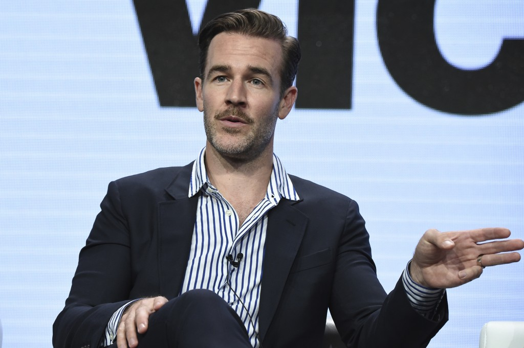 "FILE - In this Friday, July 28, 2017, file photo, James Van Der Beek attends the ""Viceland"" panel during the A&E portion of the 2017 Summer TCA's at t..."