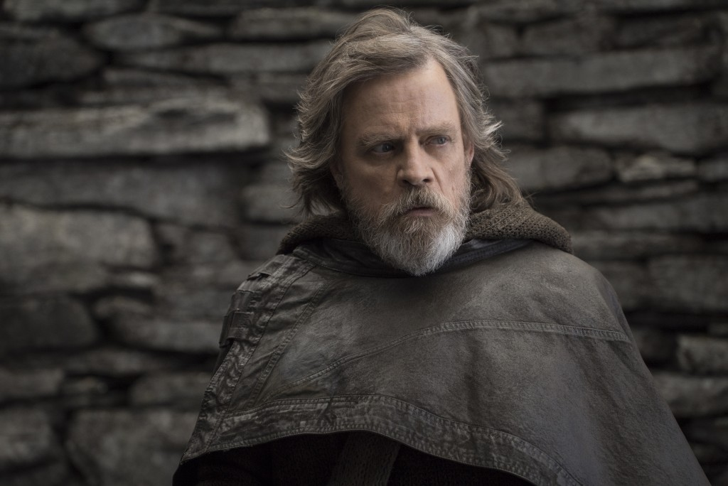 """FILE - This file image released by Lucasfilm shows Mark Hamill as Luke Skywalker in """"Star Wars: The Last Jedi."""" After two consecutive record-breaking ..."""