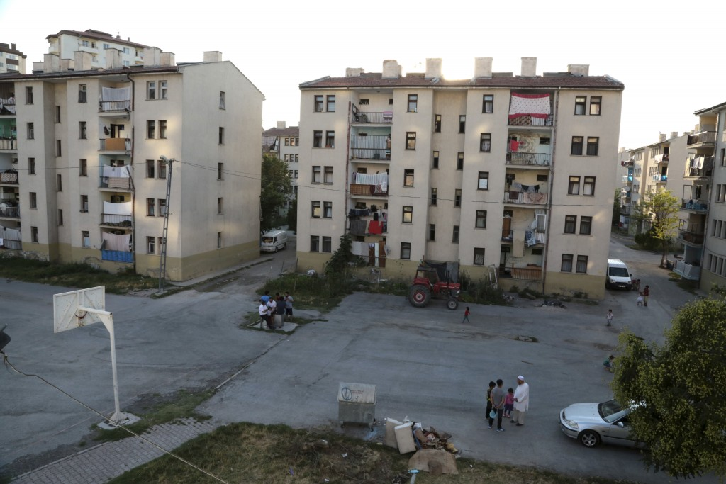 This Aug. 7, 2017 photo shows a resettlement community where Uighur muslim immigrants from China lives in Kayseri in central Turkey. As Uighurs flee a...