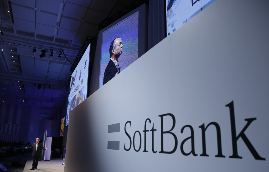 FILE- In this July 20, 2017, file photo, SoftBank Group Corp. Chief Executive Officer Masayoshi Son speaks during a SoftBank World presentation at a h...
