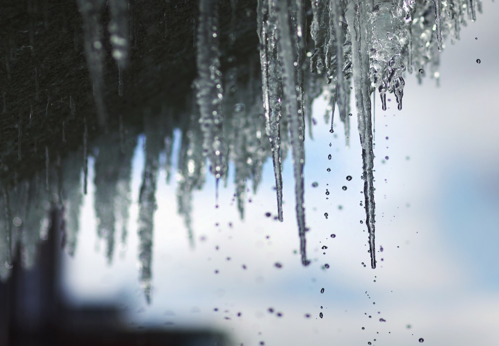 Icicles hang from the fountain at Town Center in Virginia Beach, Va., on Thursday morning Dec. 28, 2017. Cold temperatures are expected through the we...