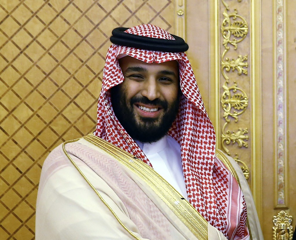 FILE - In this July, 23, 2017 file photo, Saudi Crown Prince Mohammed bin Salman poses while meeting with Turkey's President Recep Tayyip Erdogan in J...