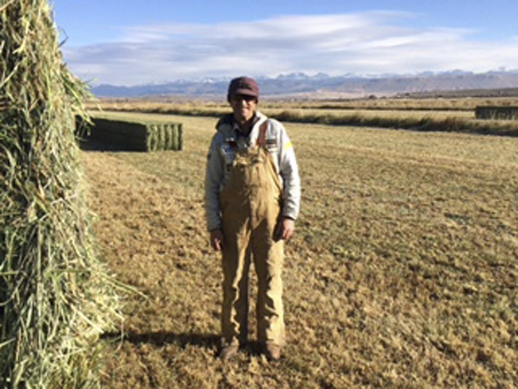n this Friday, Oct. 13, 2017, photograph, rancher Tom Johnston is shown on his ranch near Pinedale, Wyo. Johnston, who ranches on nearly 1,800 leased ...