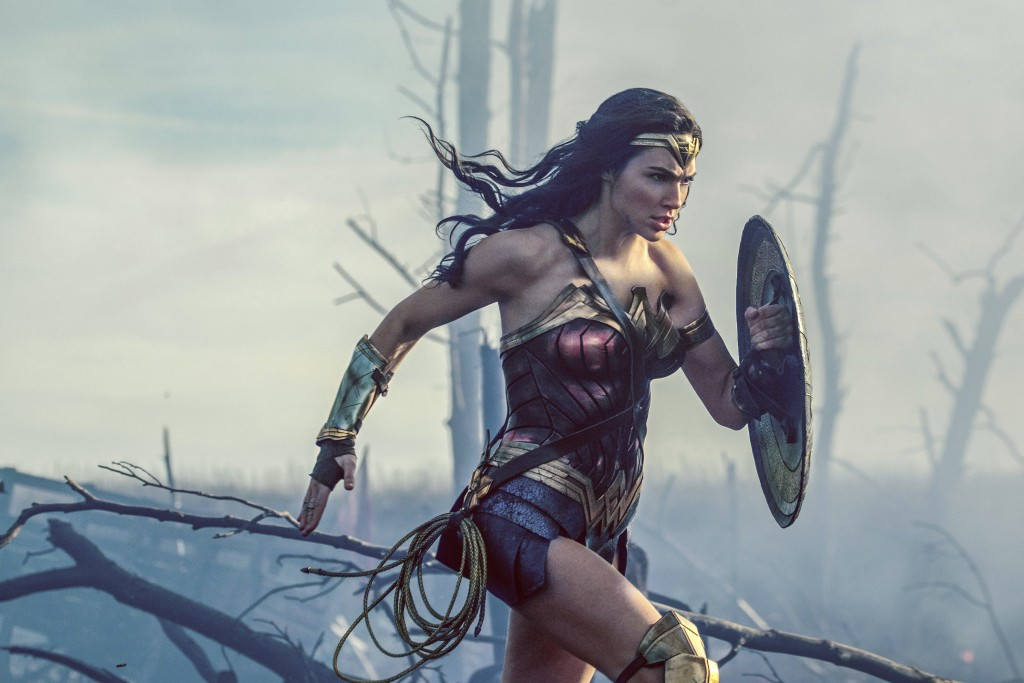 """FILE - This file image released by Warner Bros. Entertainment shows Gal Gadot charging through No Man's Land during a WWI battle scene from """"Wonder Wo..."""