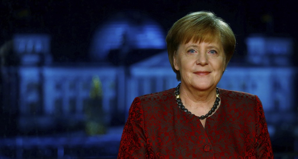 ATTENTION: EMBARGOED FOR PUBLICATION UNTIL 30 DECEMBER 11:00 PM GMT - German acting Chancellor Angela Merkel poses for photographs after the televisio...