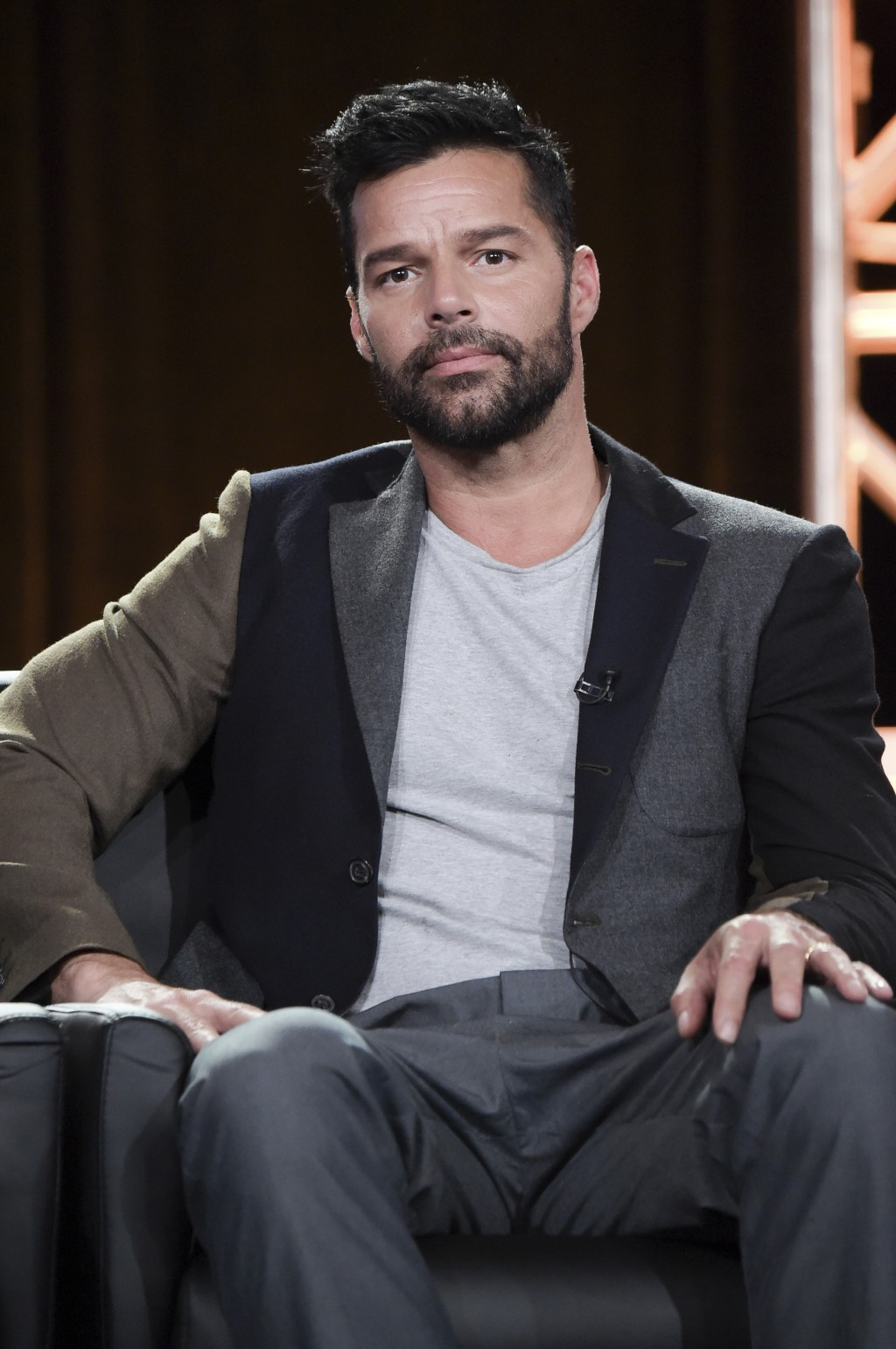 """Ricky Martin participates in the """"The Assassination of Gianni Versace: American Crime Story"""" panel during the FOX Television Critics Association Winte"""