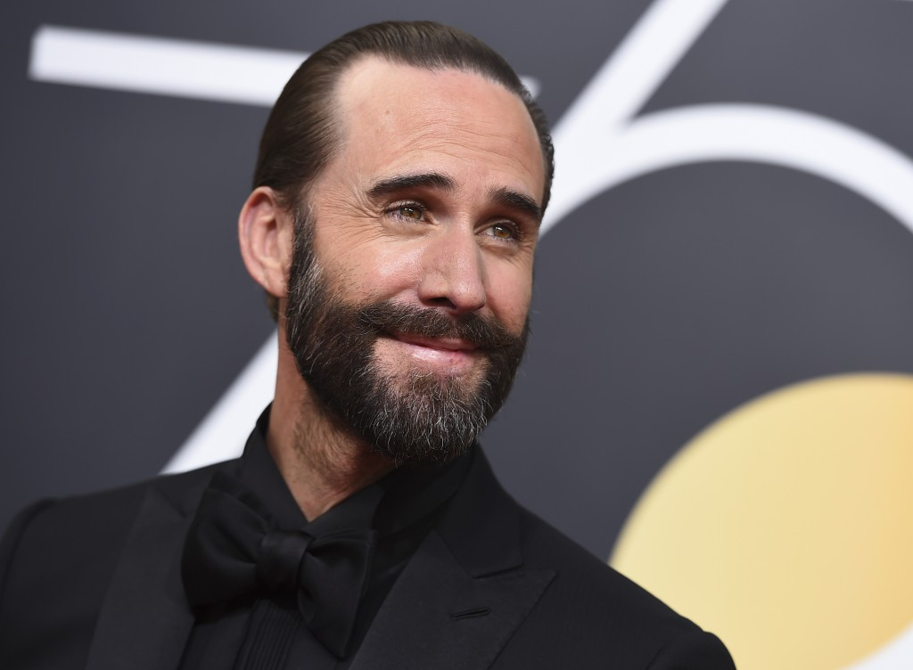 Joseph Fiennes arrives at the 75th annual Golden Globe Awards at the Beverly Hilton Hotel on Sunday, Jan. 7, 2018, in Beverly Hills, Calif. (Photo by