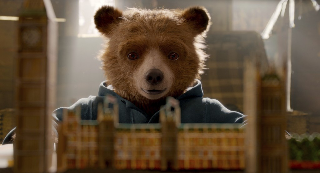 """This image released by Warner Bros. Pictures shows the character Paddington, voiced by Ben Whishaw in a scene from """" Paddington 2."""" (Warner Bros. Pict"""
