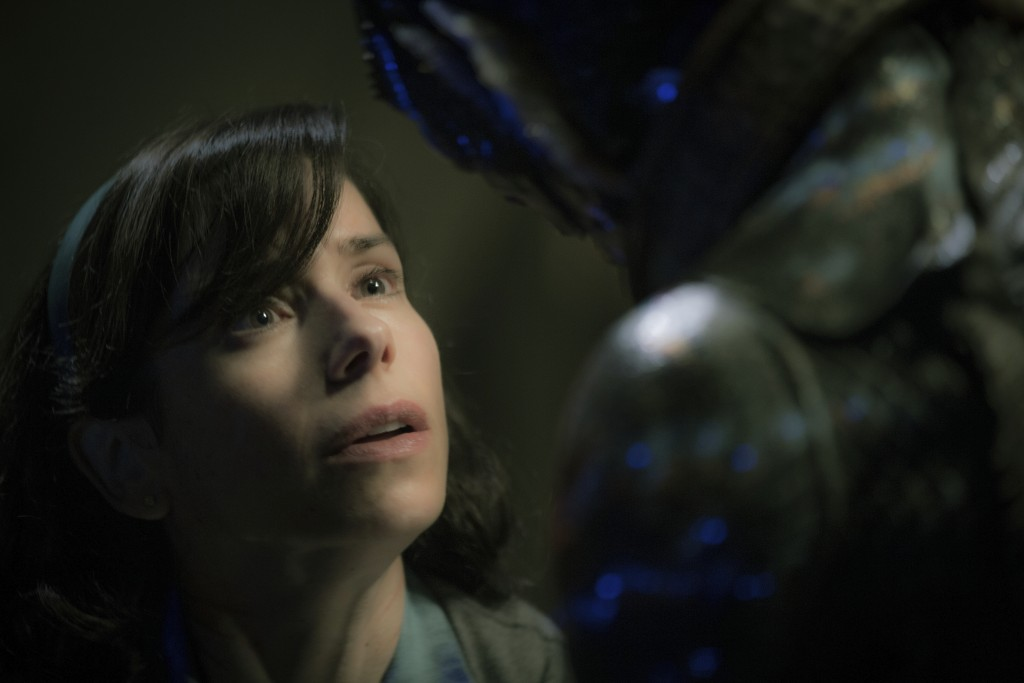 "This image released by Fox Searchlight Pictures shows Sally Hawkins, left, and Doug Jones in a scene from the film ""The Shape of Water."" Guillermo del"