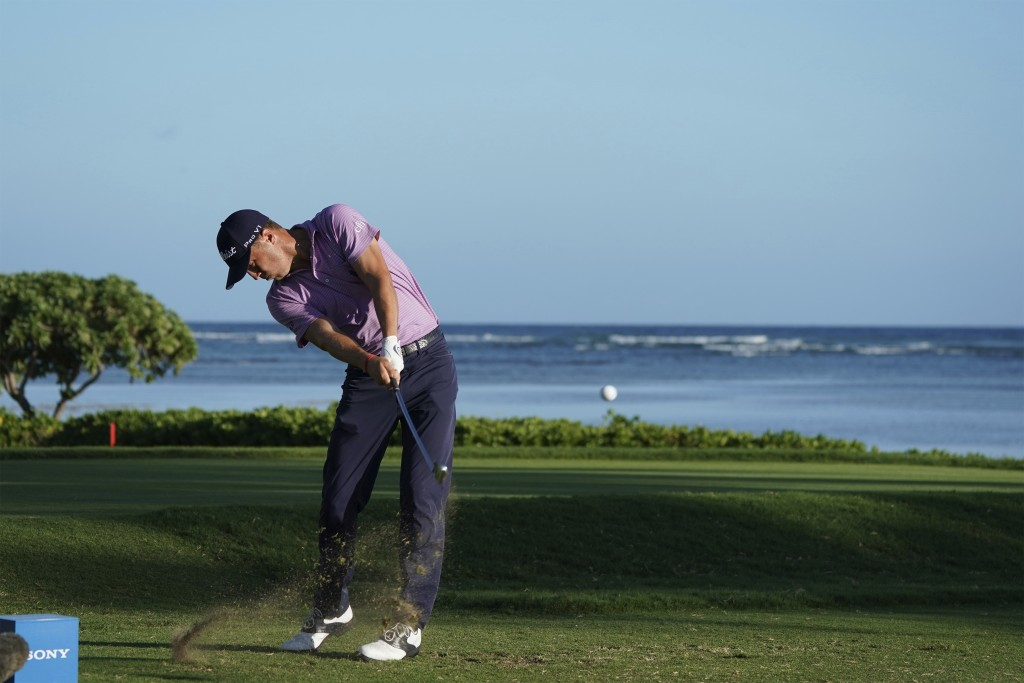 Justin Thomas drives from the 17th tee during the first round of the Sony Open golf tournament Thursday, Jan. 11, 2018, in Honolulu. (AP Photo/Marco G