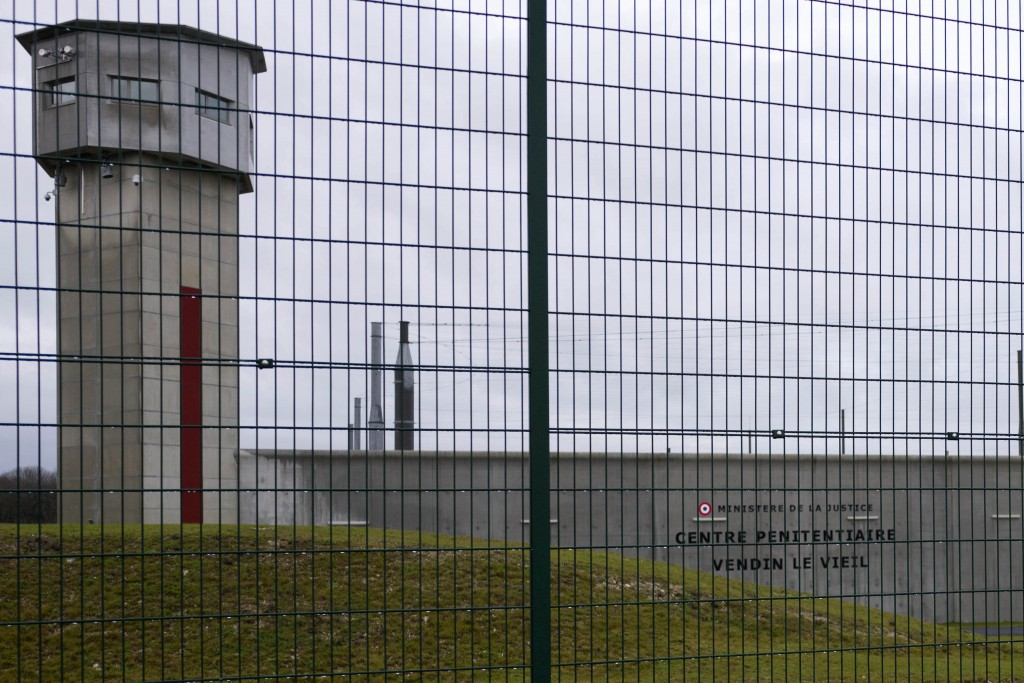 FILE - This Friday, Dec.15, 2017 shows an outside view of the prison in Vendin le Vieil, northern France. Paris' prosecutor's office says it has opene