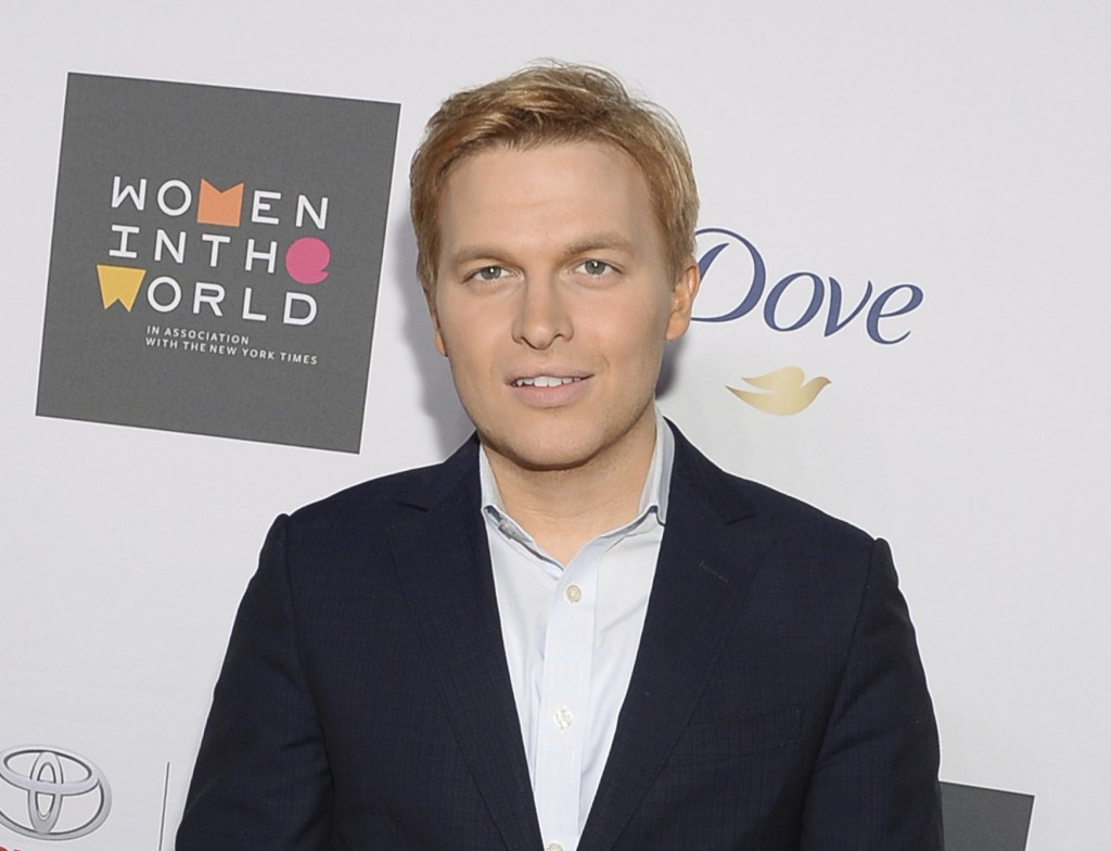 FILE - In this April 22, 2015 file photo, Ronan Farrow attends the Sixth Annual Women in the World Summit opening night in New York. Farrow, who has w