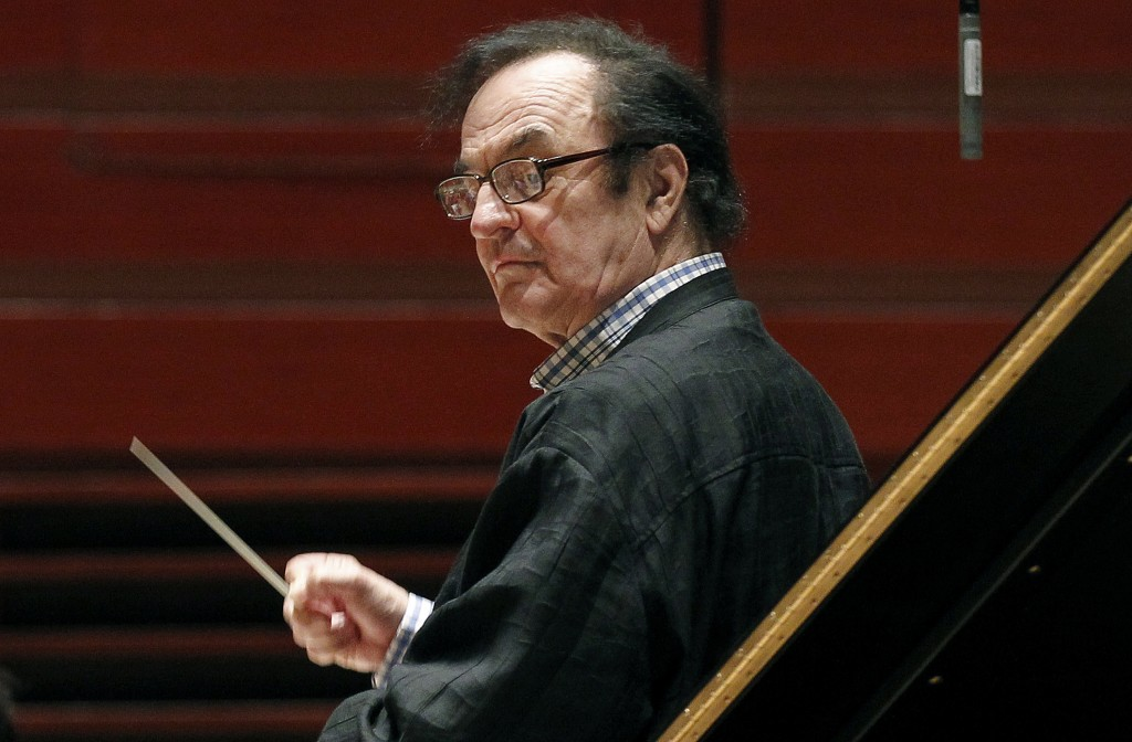 FILE - In this Oct. 19, 2011 file photo, chief conductor Charles Dutoit rehearses with the Philadelphia Orchestra in Philadelphia. Six more women have