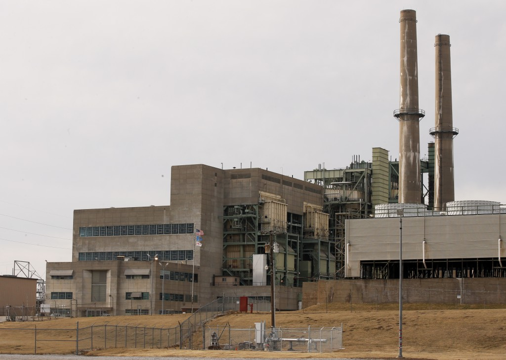 OG&E's Mustang Energy Center power plant is pictured in Oklahoma City, Wednesday, Jan. 10, 2018. Oklahoma Attorney General Mike Hunter has asked for a