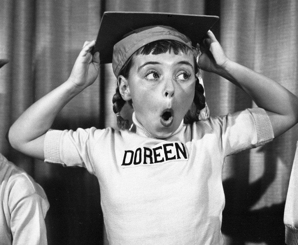 This undated photo released by Disney, shows Disney Mouseketeer Doreen Tracey. Tracey, a former child star who played one of the original cute-as-a-bu