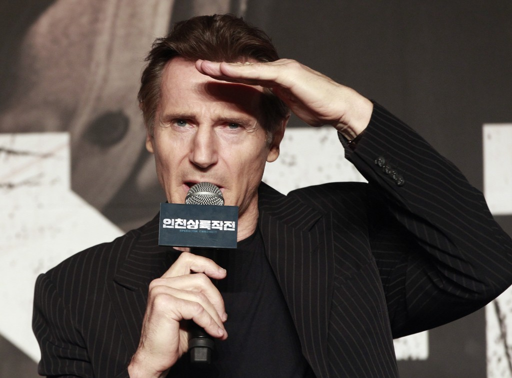 "FILE - In this Wednesday, July 13, 2016 file photo, Irish actor Liam Neeson speaks during a press conference to promote his new film ""Operation Chromi"