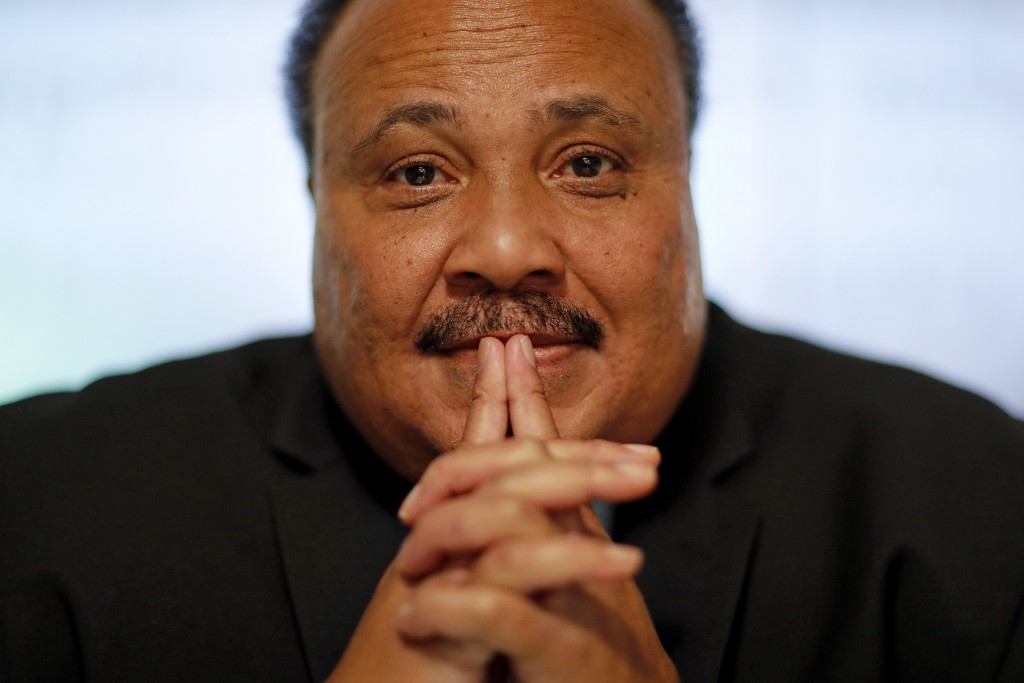 "Martin Luther King III, the son of Rev. Martin Luther King Jr., is photographed in Atlanta, Thursday, Jan. 11, 2018. ""I would like to believe that the"