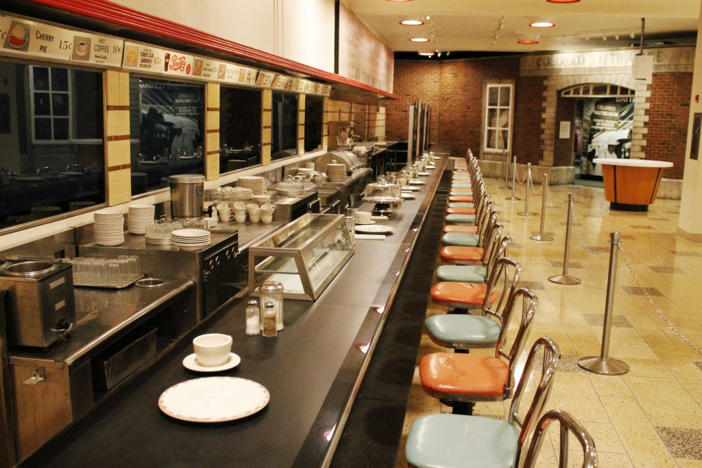 FILE - In this Sept. 16, 2016, file photo the F.W. Woolworth's lunch counter is seen at the International Civil Rights Center & Museum in Greensboro,