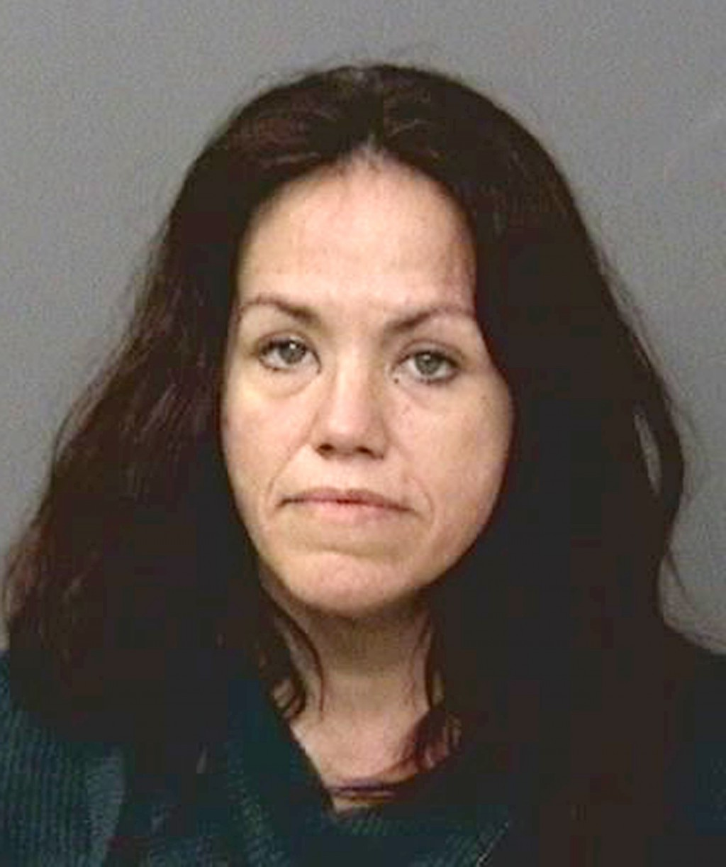 This undated booking photo provided by the Shasta County, Calif., Sheriff's Office shows Shanna Culver, 46, who was arrested after Brian Hawkins confe