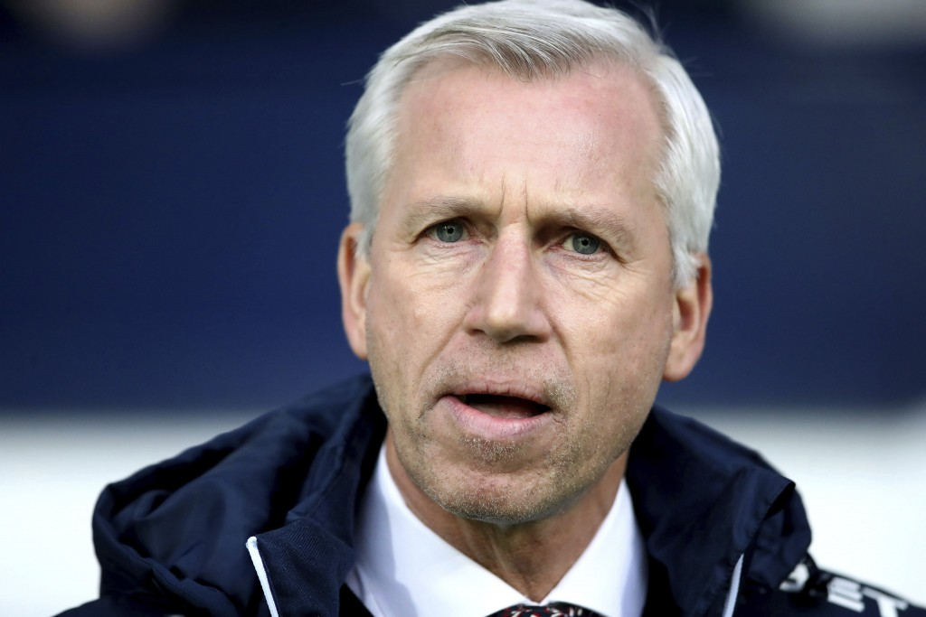 West Bromwich Albion manager Alan Pardew before the English Premier League soccer match against Brighton at The Hawthorns, West Bromwich, England, Sat