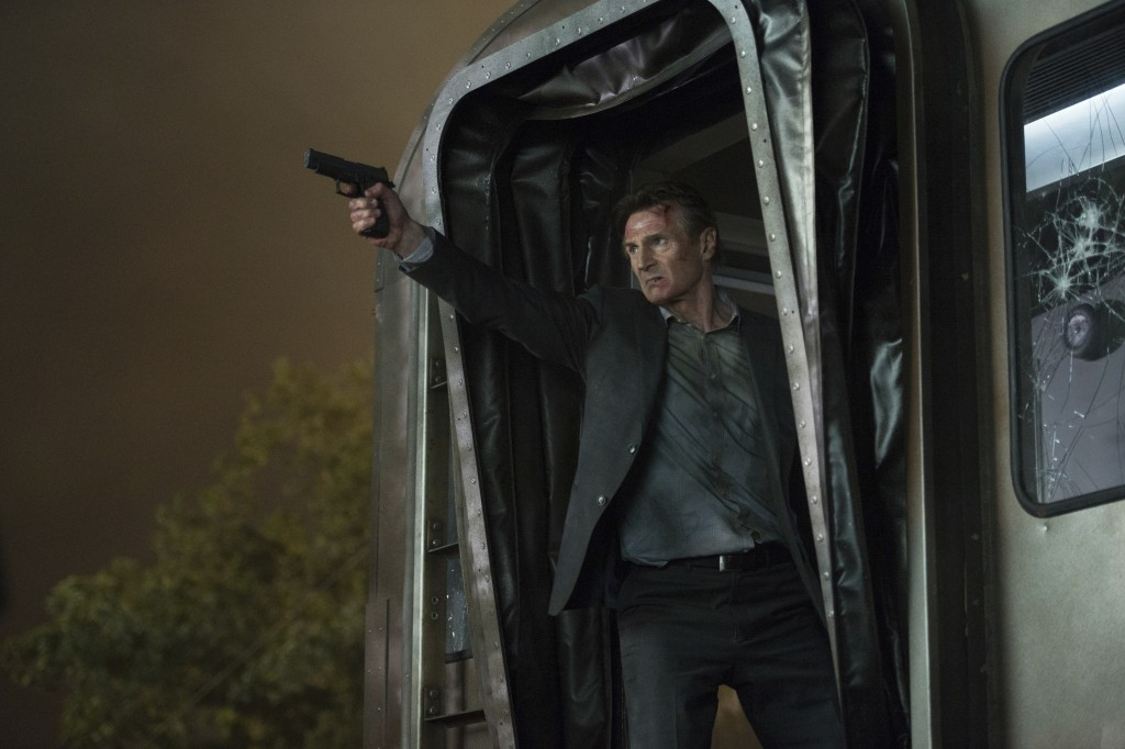 "This image released by Lionsgate shows Liam Neeson in a scene from ""The Commuter."" (Jay Maidment/Lionsgate via AP)"
