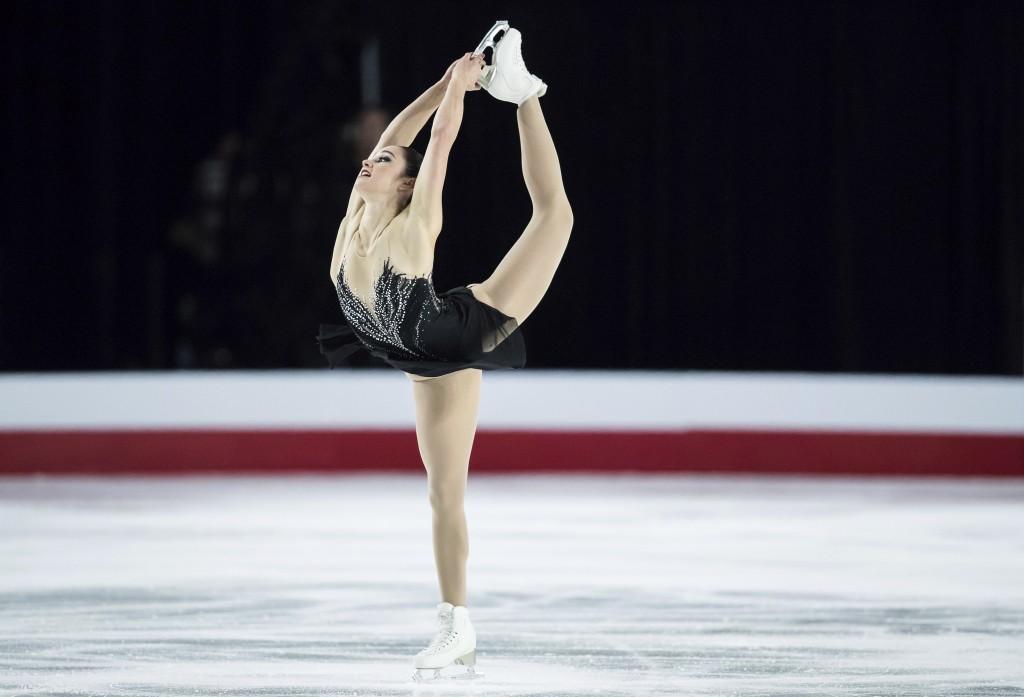 Kaetlyn Osmond performs her free skate program at the Canadian Figure Skating Championships in Vancouver, British Columbia, Saturday, Jan. 13, 2018. (