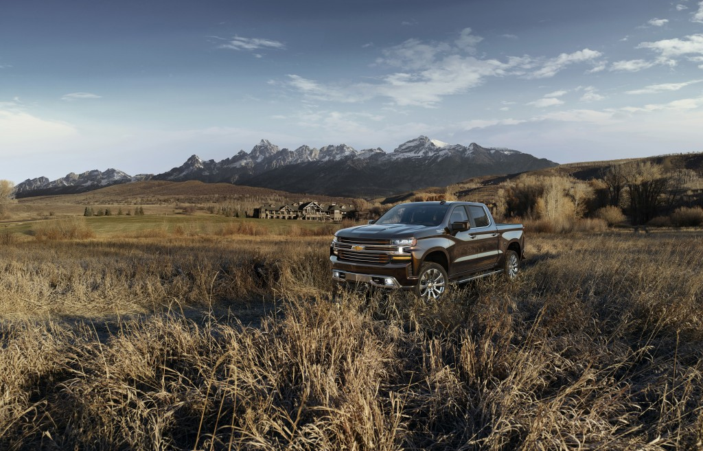 This photo provided by Chevrolet shows the new 2019 Silverado High Country pickup. General Motors is making the new Chevrolet Silverado pickup bigger