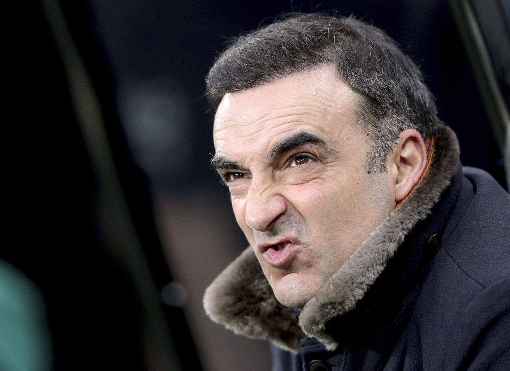 Swansea City manager Carlos Carvalhal ahead of the English Premier League soccer match against Newcastle United at St James' Park, Newcastle, England,