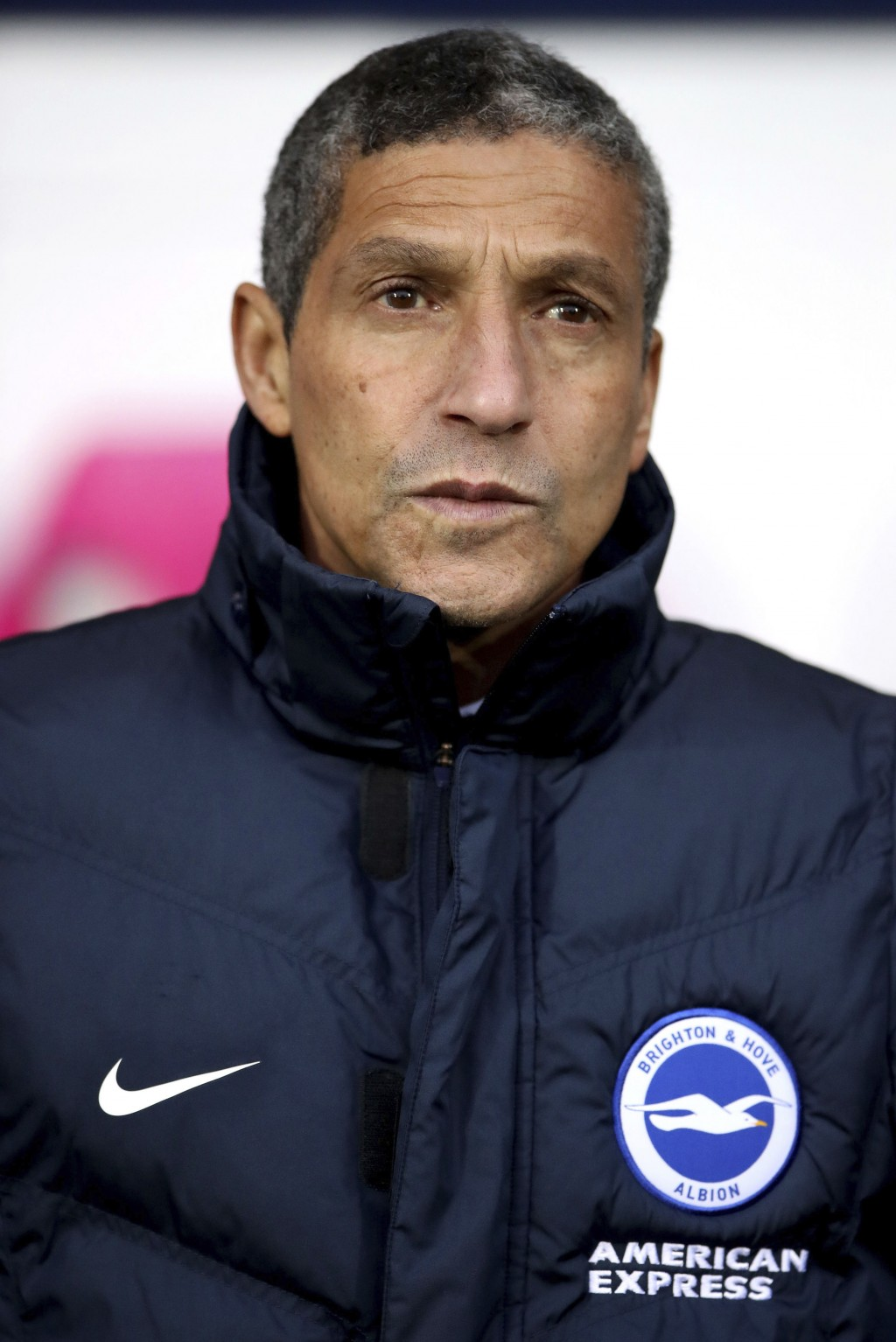 Brighton & Hove Albion manager Chris Hughton before the English Premier League soccer match against West Bromwich Albion at The Hawthorns, West Bromwi