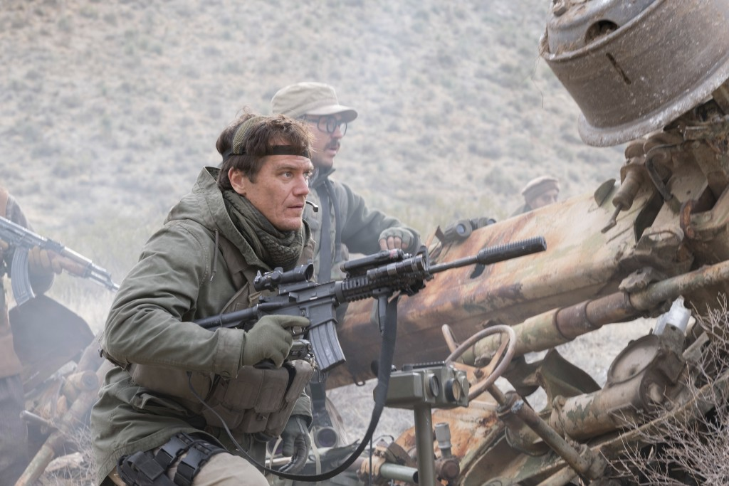 """This image released by Warner Bros. Entertainment shows Michael Shannon in a scene from """"12 Strong."""" (David James/Warner Bros. Entertainment via AP)"""