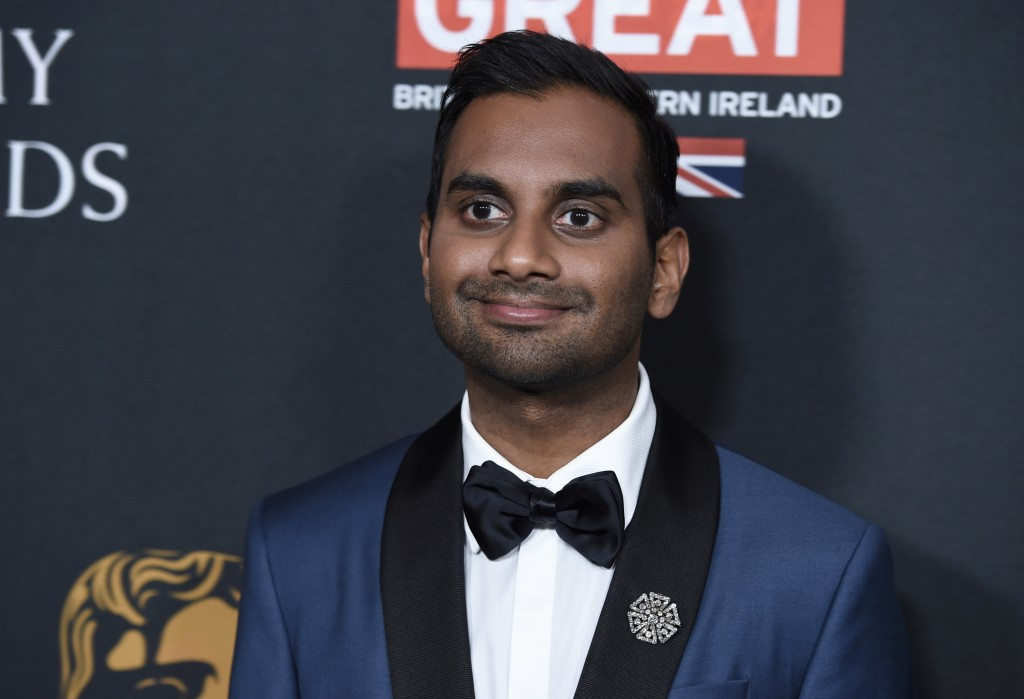 FILE - In this Friday, Oct. 27, 2017 file photo, Aziz Ansari arrives at the BAFTA Los Angeles Britannia Awards in Beverly Hills, Calif. What makes a p