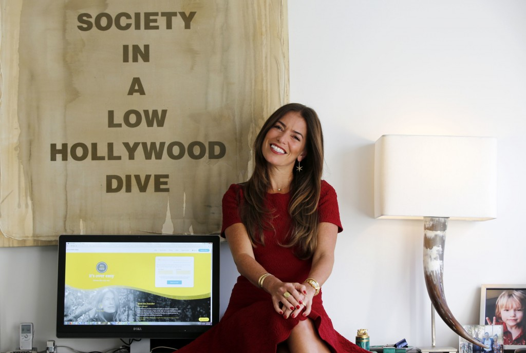 In this Jan. 12, 2018, photo, divorce attorney Laura Wasser, who has represented celebrities like Britney Spears and Johnny Depp, poses at her Century...