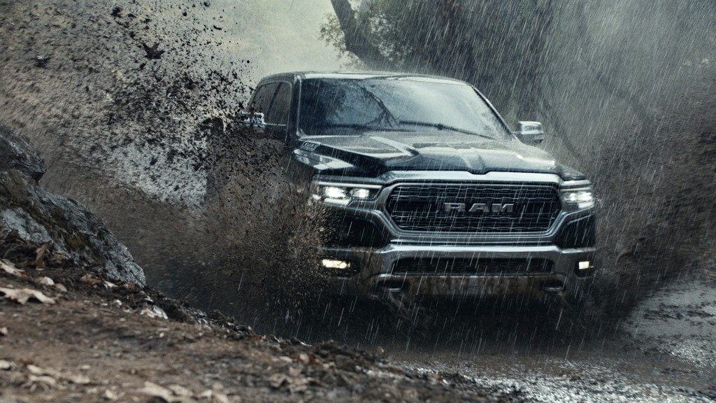 FILE - This file photo provided by Ram Truck Brand shows a scene from the company's Super Bowl spot. The Ram truck ad that used a speech by Martin Lut