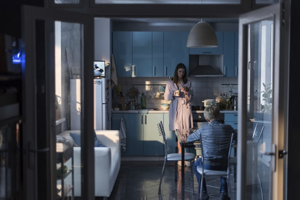 """This image released by Sony Pictures Classics shows Maryana Spivak, background, and Matvey Novikov in a scene from """"Loveless.""""  (Sony Pictures Classic"""