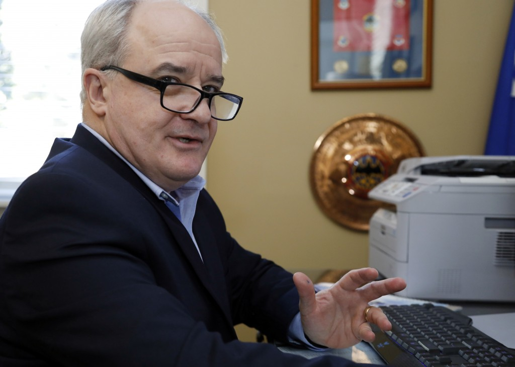 Retired Air Force Maj. Gen. James Poss, speaks in his home office in Ocean Springs, Miss., on Jan. 17, 2018. Poss, whose Gmail was nearly compromised ...