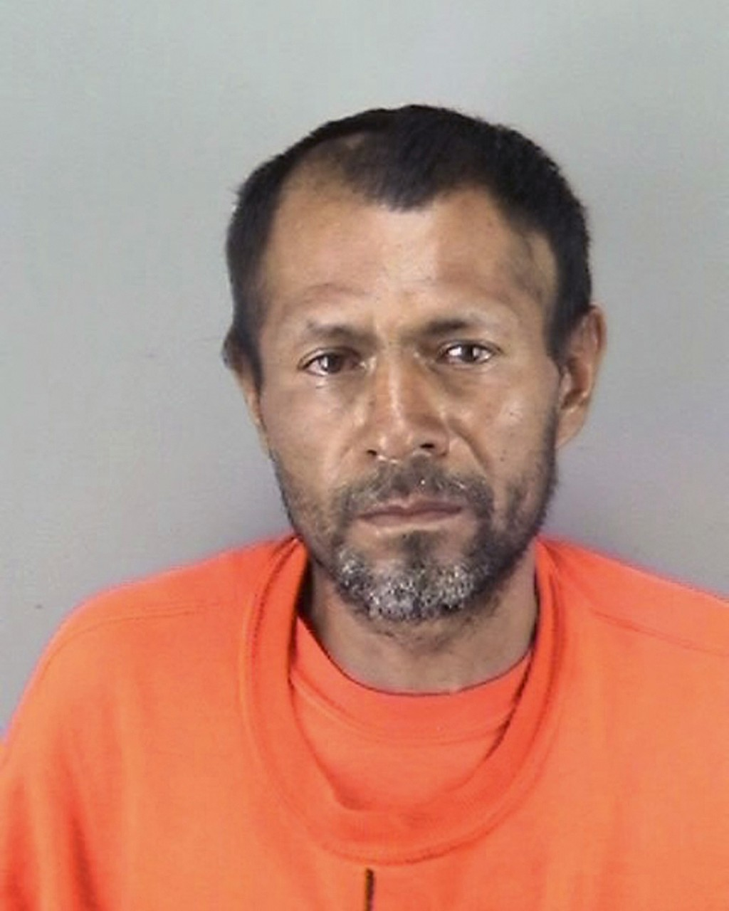 FILE - This undated file booking photo provided by the San Francisco Police Department shows Jose Ines Garcia Zarate, a homeless undocumented immigran