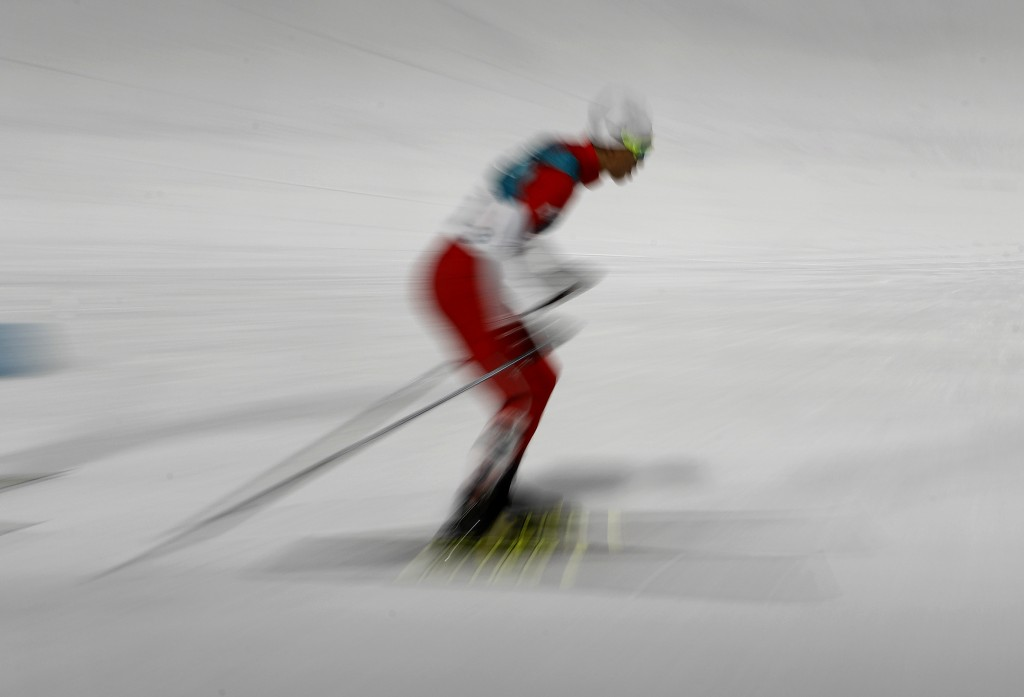 Silver medalist Akito Watabe, of Japan, competes in the 10km cross-country skiing portion of the nordic combined event at the 2018 Winter Olympics in