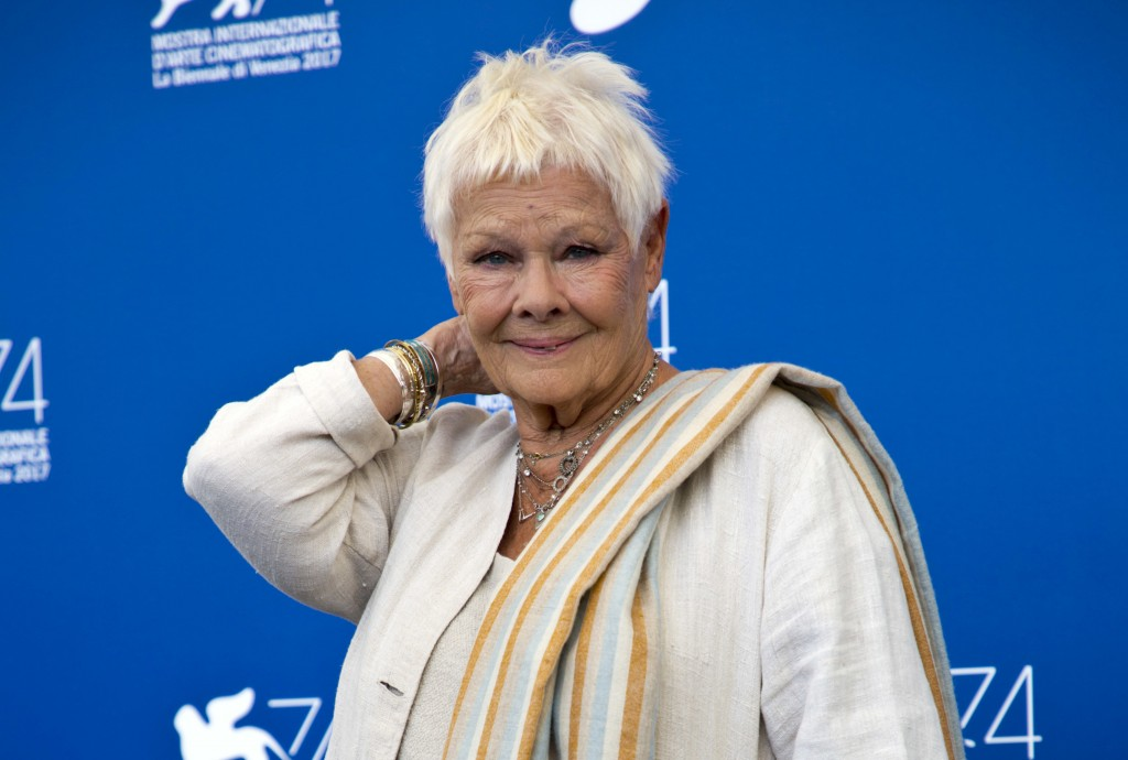 "FILE - In this file photo dated Sunday, Sept. 3, 2017, British actress Judi Dench poses during a photo call for the film ""Victoria And Abdul"" at the 7"