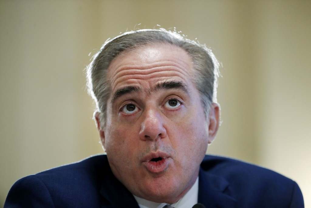 Veterans Affairs Secretary David Shulkin speaks during a hearing on the FY19 budget to the House Veterans Affairs Committee, Thursday, Feb. 15, 2018,