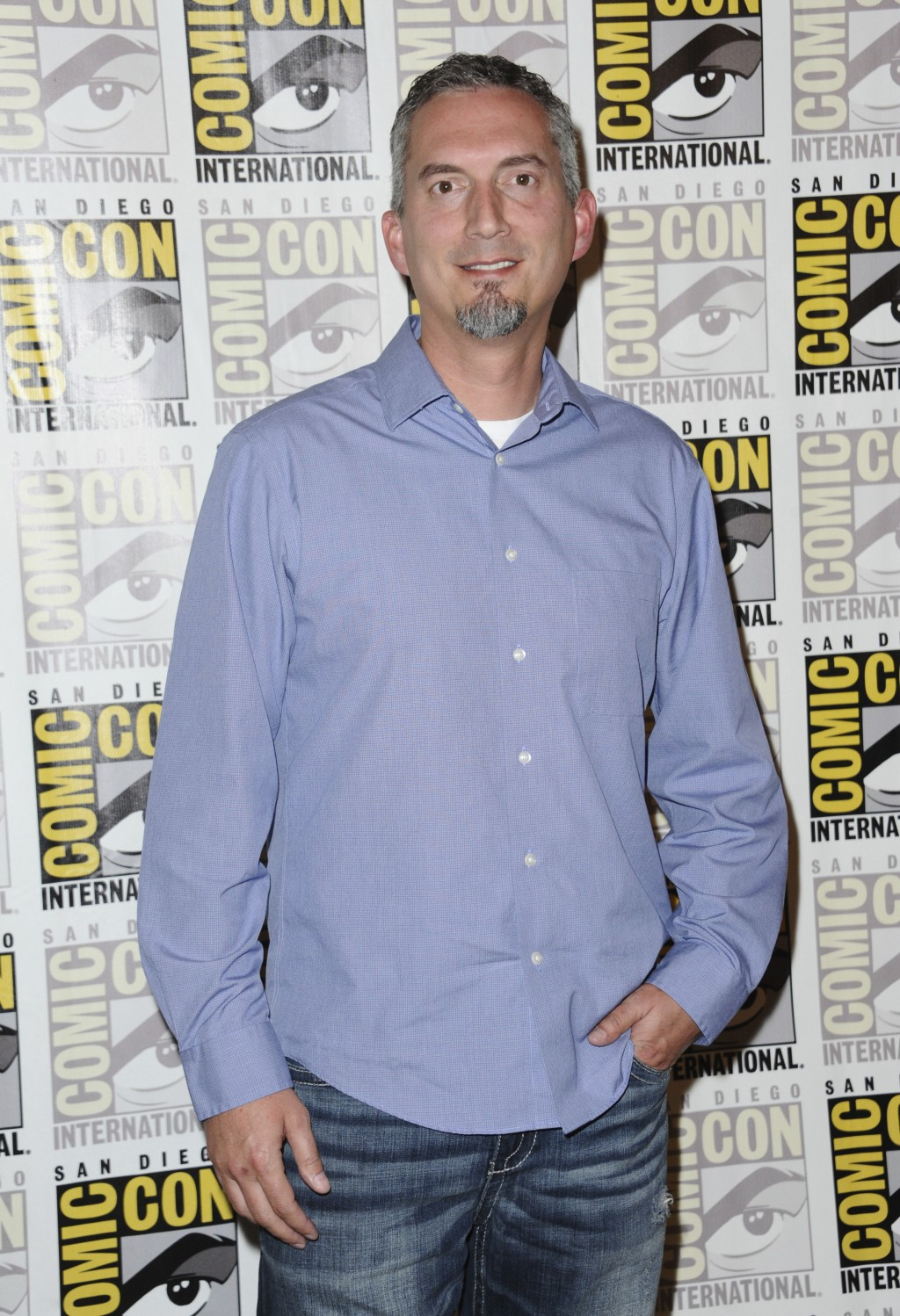 "FILE - In this July 11, 2015 file photo, James Dashner, author of ""Maze Runner"" attends the 20th Century Fox press line at Comic-Con International in"