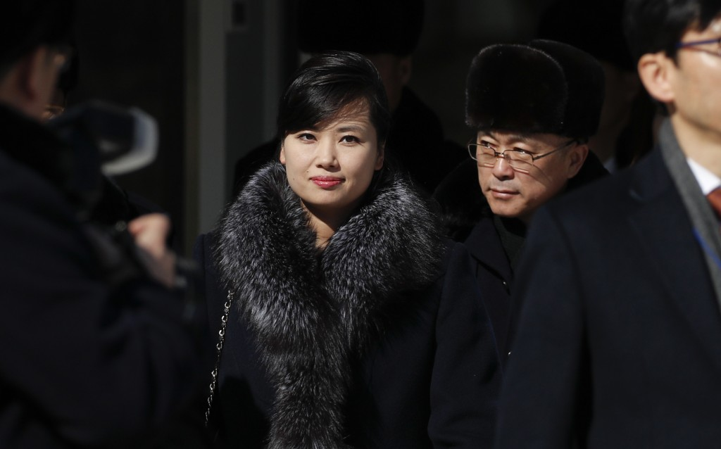 FILE - In this Feb. 7, 2018 file photo, Hyon Song Wol, head of North Korea's Samjiyon Orchestra, leaves the Gangneung Arts Center after touring the fa...