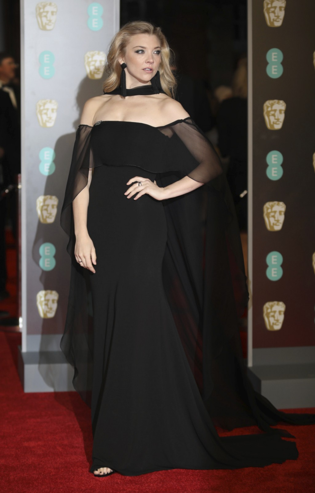 Actress Natalie Dormer poses for photographers upon arrival at the BAFTA Awards 2018 in London, Sunday, Feb. 18, 2018. (Photo by Vianney Le Caer/Invis...