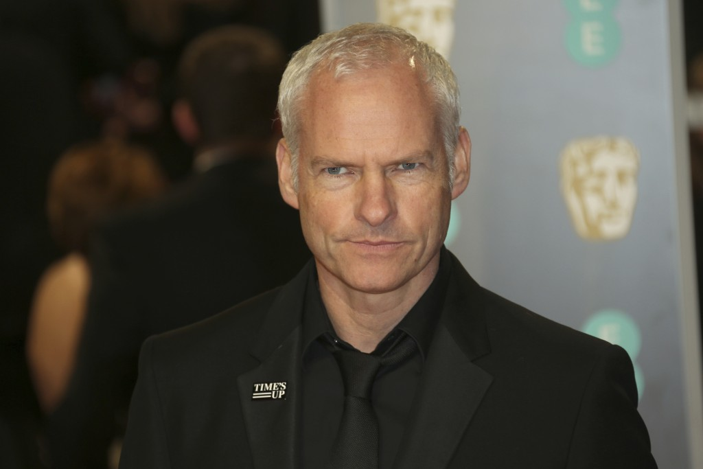 Director Martin McDonagh poses for photographers upon arrival at the BAFTA 2018 Awards in London, Sunday, Feb. 18, 2018. (Photo by Joel C Ryan/Invisio...