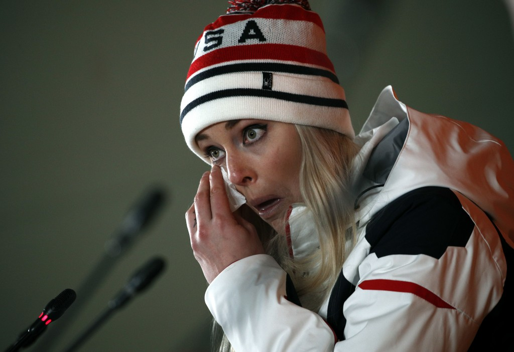 Lindsey Vonn Breaks Down Crying After Winning Bronze Medal at Winter Olympics