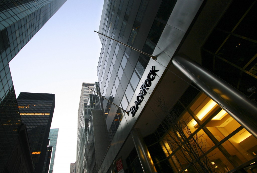 FILE- In this Feb. 15, 2006, file photo, BlackRock headquarters is shown in New York. U.S. companies are taking a closer look at investments, co-brand